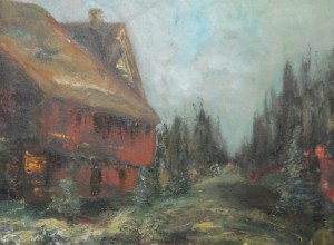 "Old House on Road 18"" x 24"" Oil on Canvas"