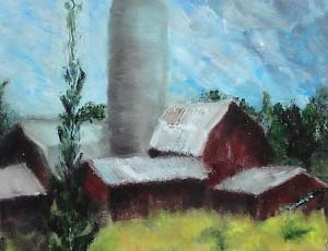 Gage Farm - Oil on Canvass